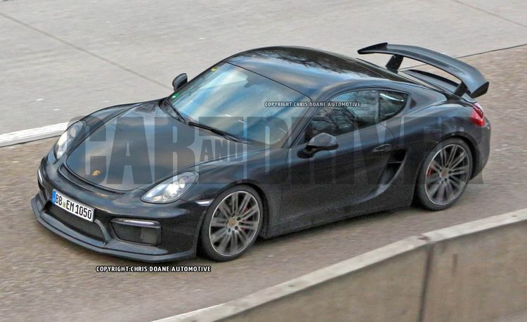 Naked 2015 Porsche Cayman GT4 Streaks for the Camera