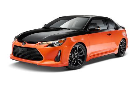 Hot Black-on-Orange Action! 2015 Scion tC Release Series 9.0 Now at Scion Dealerships