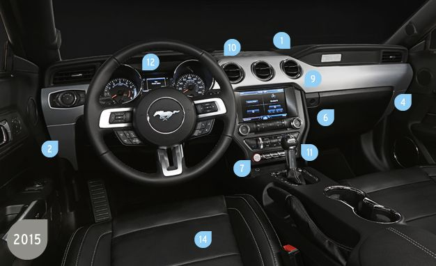 Great View 25 Photos How Ford Made The New Mustang\u0027s Interior Better Than Ever Design Inspirations