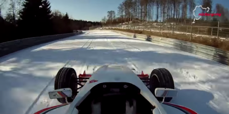 Who Needs an SUV? Watch Formula Race Car Tackle the Snow-Covered Nürburgring