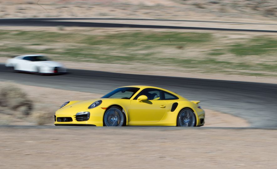 2014 Porsche 911 Turbo S, 2015 Nissan GT-R NISMO, and 2015 Chevrolet Corvette Z06 - Slide 35