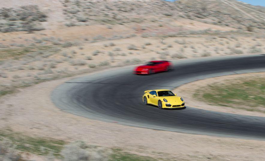 2014 Porsche 911 Turbo S, 2015 Nissan GT-R NISMO, and 2015 Chevrolet Corvette Z06 - Slide 40