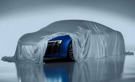 My, R'nt You Familiar: 2016 Audi R8 Winks Its Laser Headlights for the Camera
