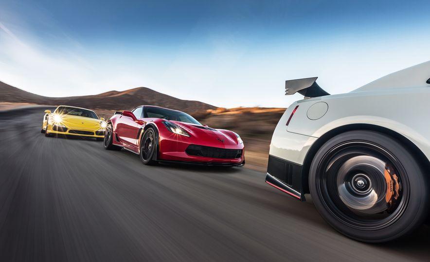 2014 Porsche 911 Turbo S, 2015 Nissan GT-R NISMO, and 2015 Chevrolet Corvette Z06 - Slide 4