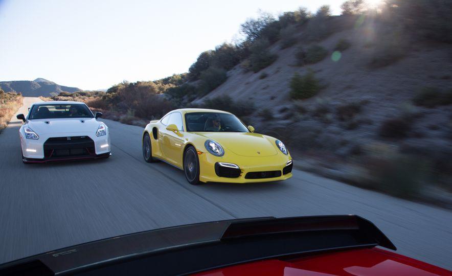2014 Porsche 911 Turbo S, 2015 Nissan GT-R NISMO, and 2015 Chevrolet Corvette Z06 - Slide 5