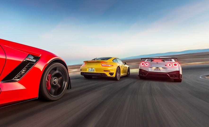2014 Porsche 911 Turbo S, 2015 Nissan GT-R NISMO, and 2015 Chevrolet Corvette Z06 - Slide 7