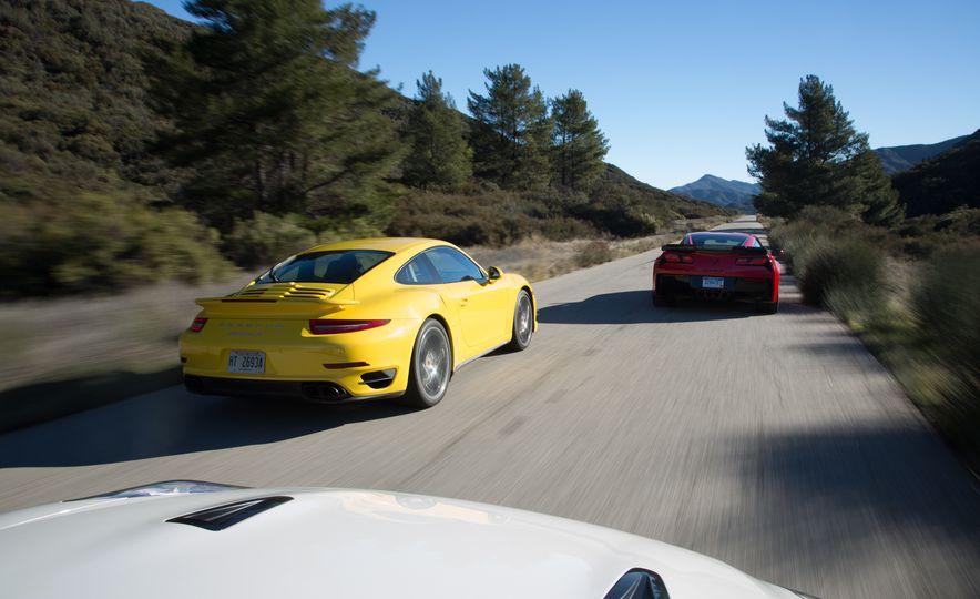 2014 Porsche 911 Turbo S, 2015 Nissan GT-R NISMO, and 2015 Chevrolet Corvette Z06 - Slide 9