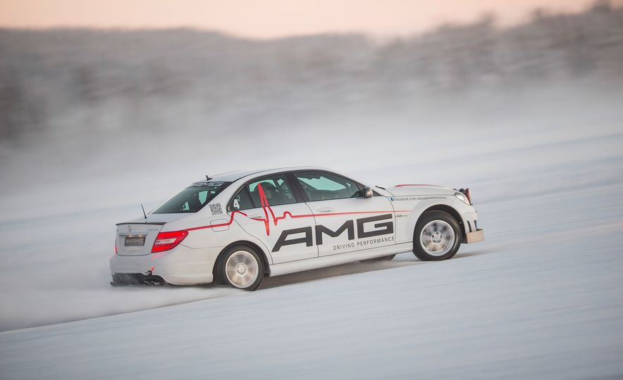 Mercedes-AMG Winter Academy: Driving AMGs in Sweden in the Dead of Winter - Slide 24