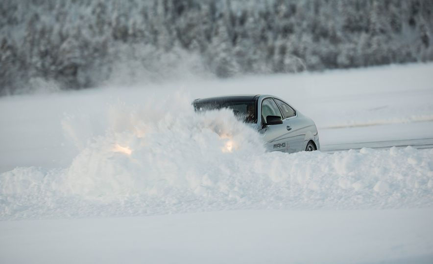 Mercedes-AMG Winter Academy: Driving AMGs in Sweden in the Dead of Winter - Slide 55