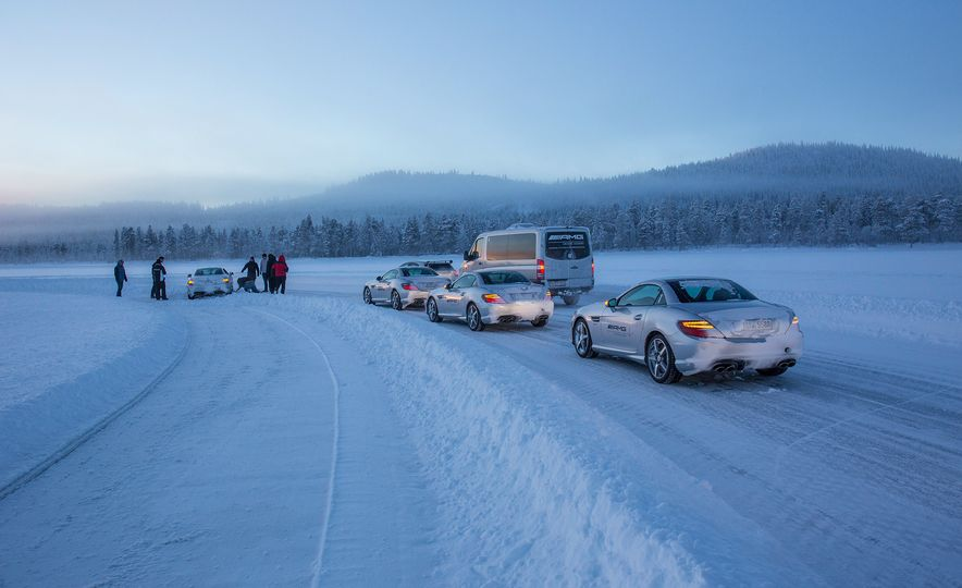 Mercedes-AMG Winter Academy: Driving AMGs in Sweden in the Dead of Winter - Slide 80