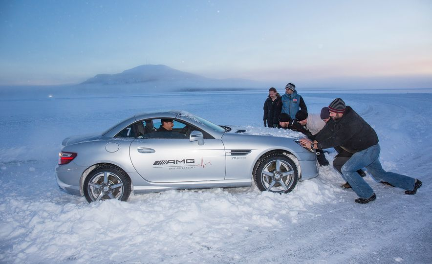 Mercedes-AMG Winter Academy: Driving AMGs in Sweden in the Dead of Winter - Slide 83