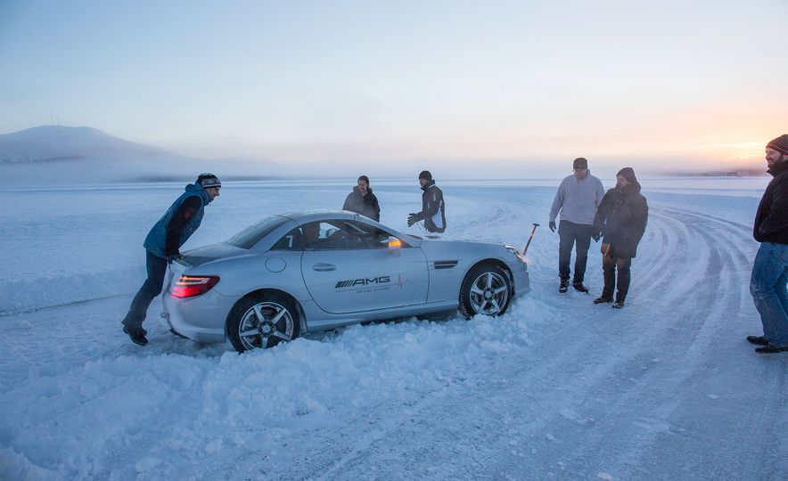 Mercedes-AMG Winter Academy: Driving AMGs in Sweden in the Dead of Winter - Slide 84