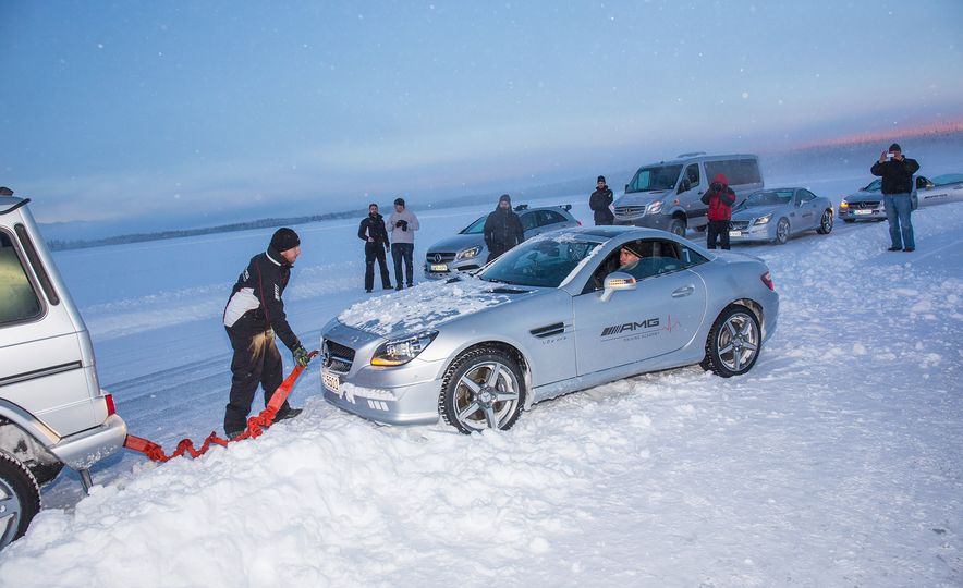 Mercedes-AMG Winter Academy: Driving AMGs in Sweden in the Dead of Winter - Slide 87