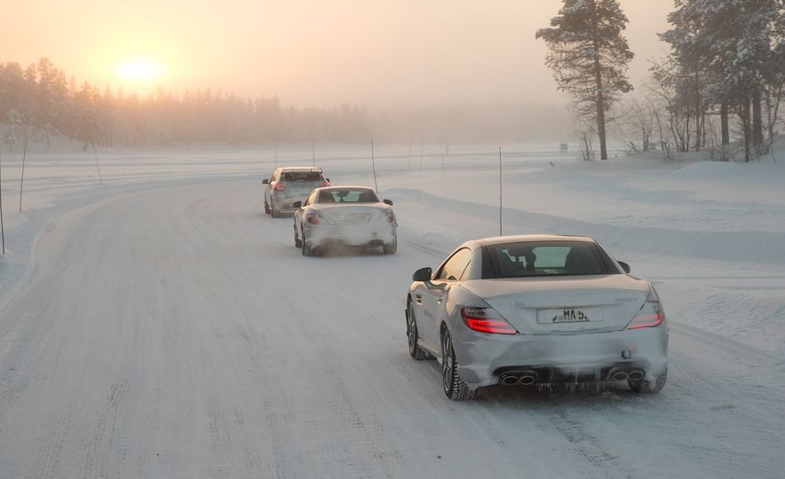 Mercedes-AMG Winter Academy: Driving AMGs in Sweden in the Dead of Winter - Slide 97