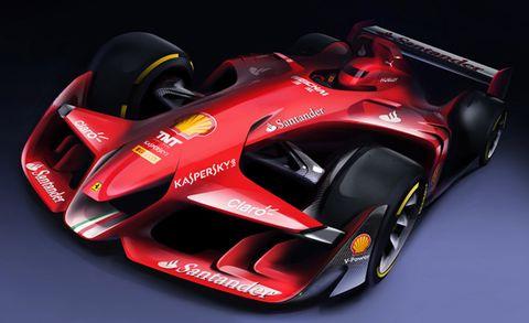Ferrari's Proposed F1 Race-Car Concept Is Gorgeous
