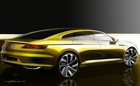VW Sport Coupe Concept GTE Hints at the Next Passat CC
