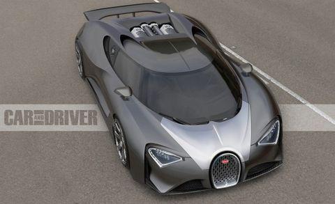 2017 Bugatti Chiron Artist S Rendering
