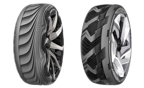 Goodyear Concept Tires Shift Shapes and Create Electricity