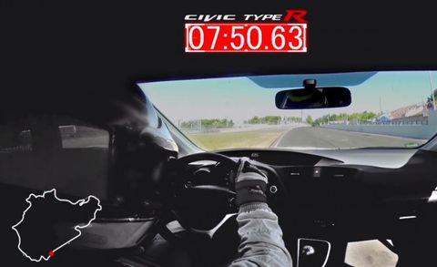 Honda Civic Type R Record-Smashing Nürburgring Lap