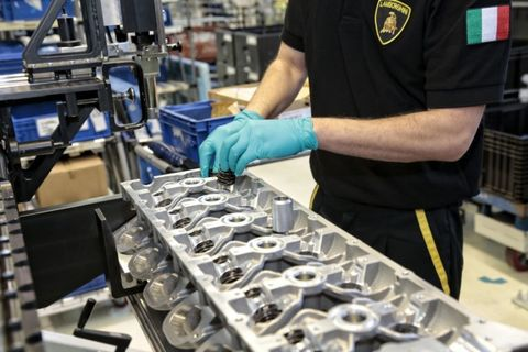 Our Man Does Time on the Lamborghini V-12 Assembly Line