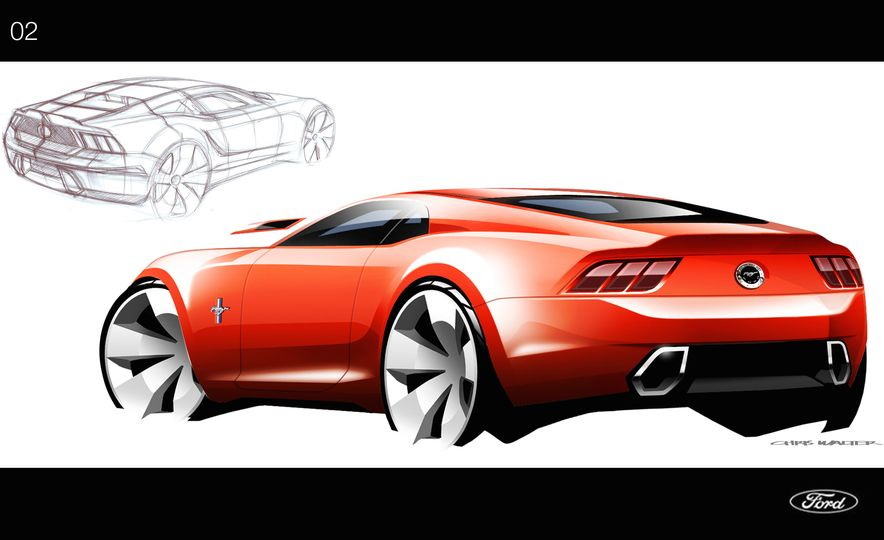 Stud Service: The Drawings and Designs that Gave Birth to the Latest Ford Mustang - Slide 2