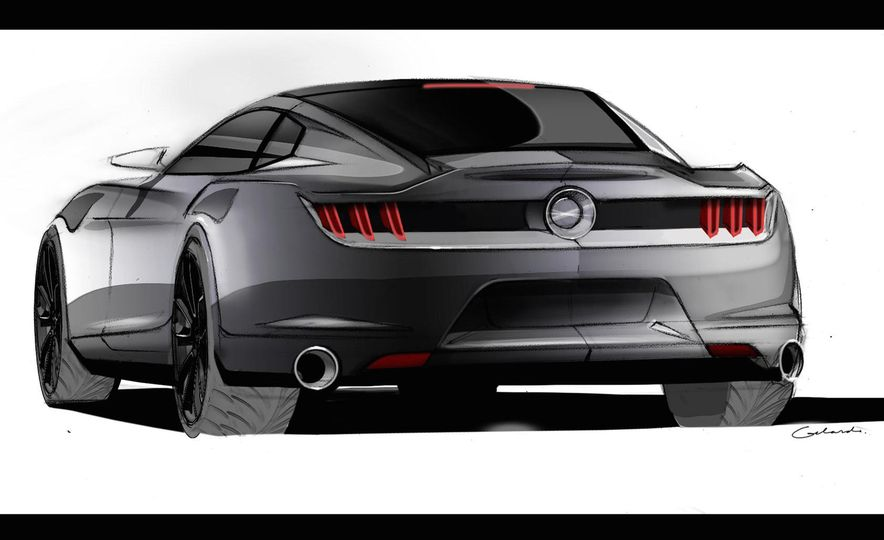 Stud Service: The Drawings and Designs that Gave Birth to the Latest Ford Mustang - Slide 3
