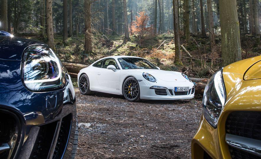 2016 Jaguar F-type R coupe, 2015 Porsche 911 Carrera GTS, and 2016 Mercedes-AMG GT S - Slide 47