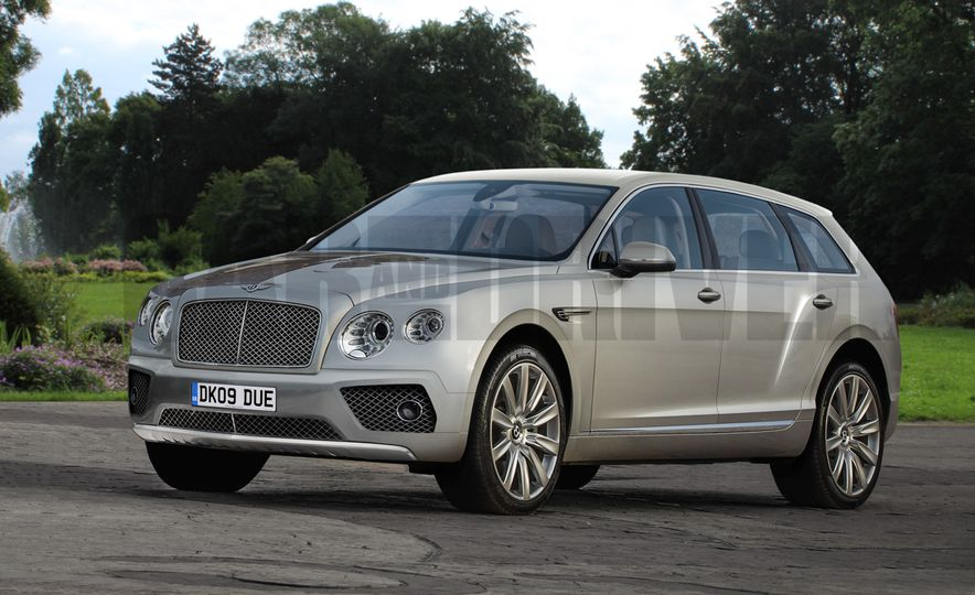 2017 Bentley Bentayga SUV (artist's rendering) - Slide 1