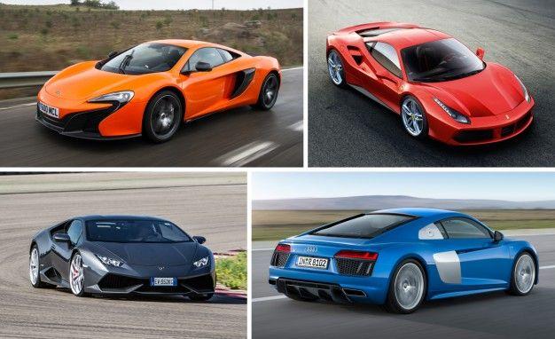 Lamborghini vs ferrari vs bugatti vs porsche vs audi