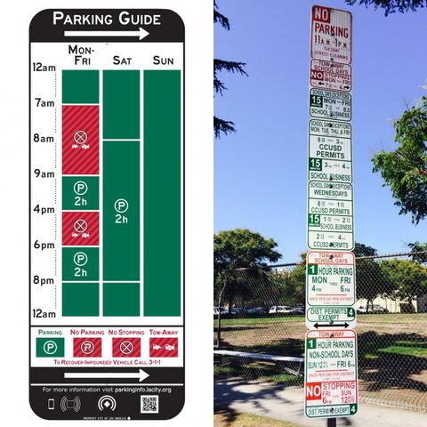 L.A. Testing New, Simplified Parking Signs that Every City Should Use—and they Have Bluetooth
