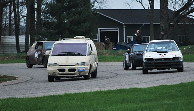 LeMons Detroit Day 1: MGB Battling Mirada for Class C Lead, Subaru XT Ends Day in DFL