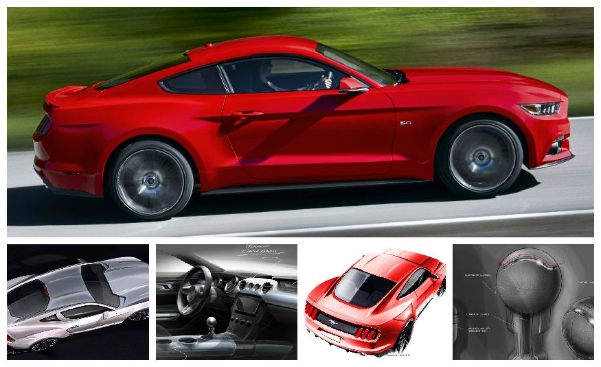 Stud Service: The Drawings and Designs that Gave Birth to the Latest Ford Mustang - Slide 1