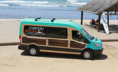 This Is What Ford's Transit Van Looks Like as a Woody—and It's for a Good Cause