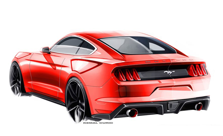 Stud Service: The Drawings and Designs that Gave Birth to the Latest Ford Mustang - Slide 22