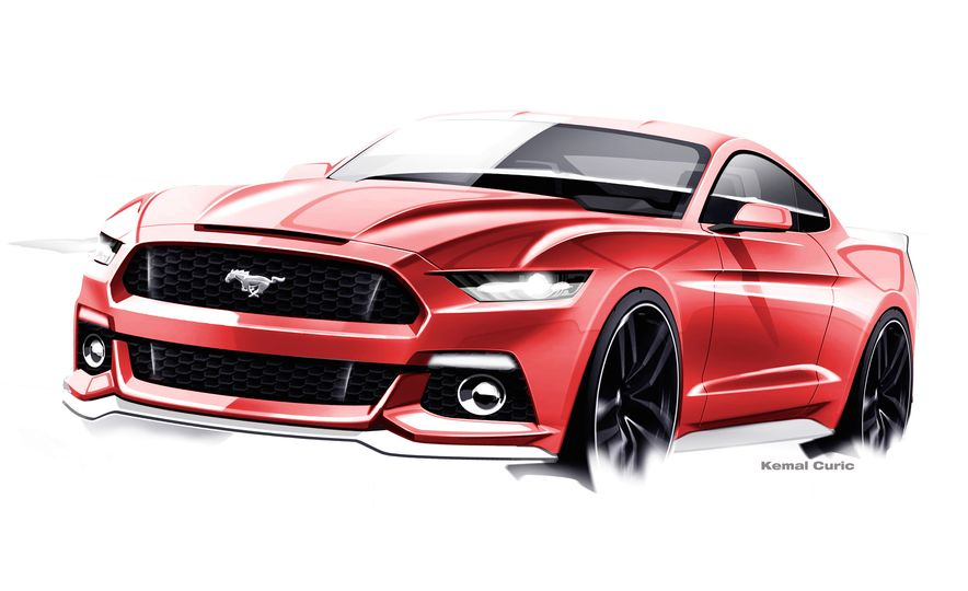 Stud Service: The Drawings and Designs that Gave Birth to the Latest Ford Mustang - Slide 21