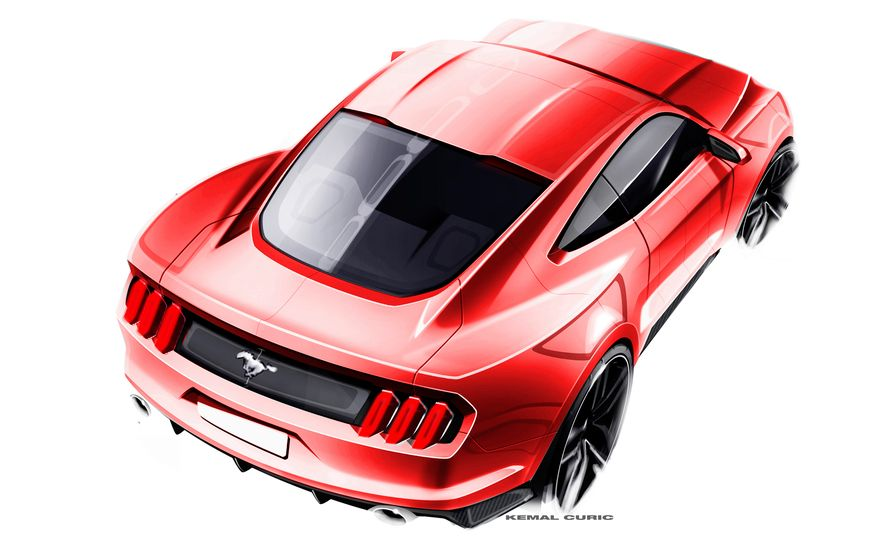 Stud Service: The Drawings and Designs that Gave Birth to the Latest Ford Mustang - Slide 24