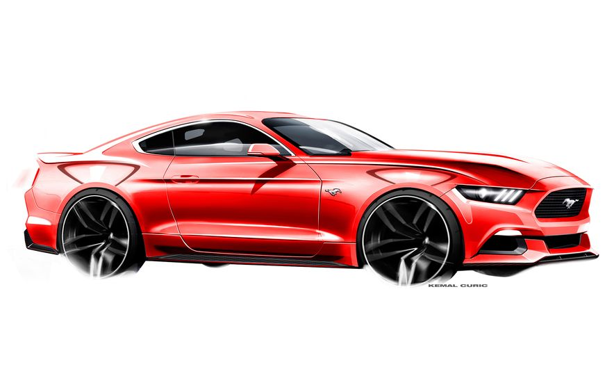 Stud Service: The Drawings and Designs that Gave Birth to the Latest Ford Mustang - Slide 23