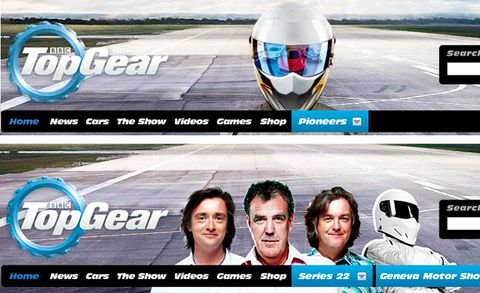 Clarkson, Hammond, and May Removed from TopGear.com Home Page