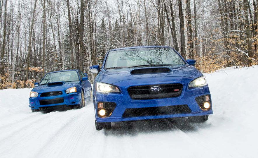 2004 Subaru Impreza WRX STI and 2015 Subaru WRX STI Launch Edition - Slide 1