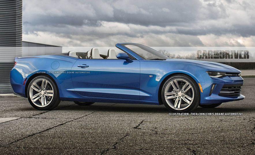 2016 chevrolet camaro convertible artists rendering - Camaro 2015 Convertible Blue