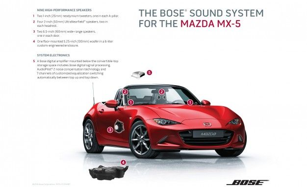 2016 Mazda Mx5 Miata Bose Sound System Detailed News Car And Driverrhcaranddriver: Mazda Mx 5 Audio System At Gmaili.net