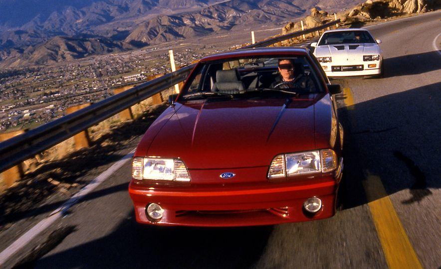 Pontiac Firebird Formula, Chevrolet Camaro IROC-Z, and Ford Mustang GT - Slide 2
