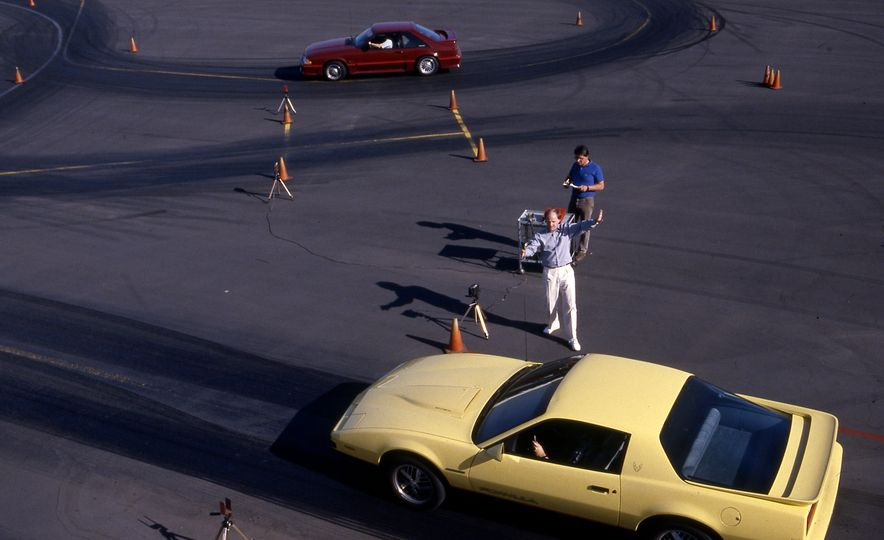 Pontiac Firebird Formula, Chevrolet Camaro IROC-Z, and Ford Mustang GT - Slide 3