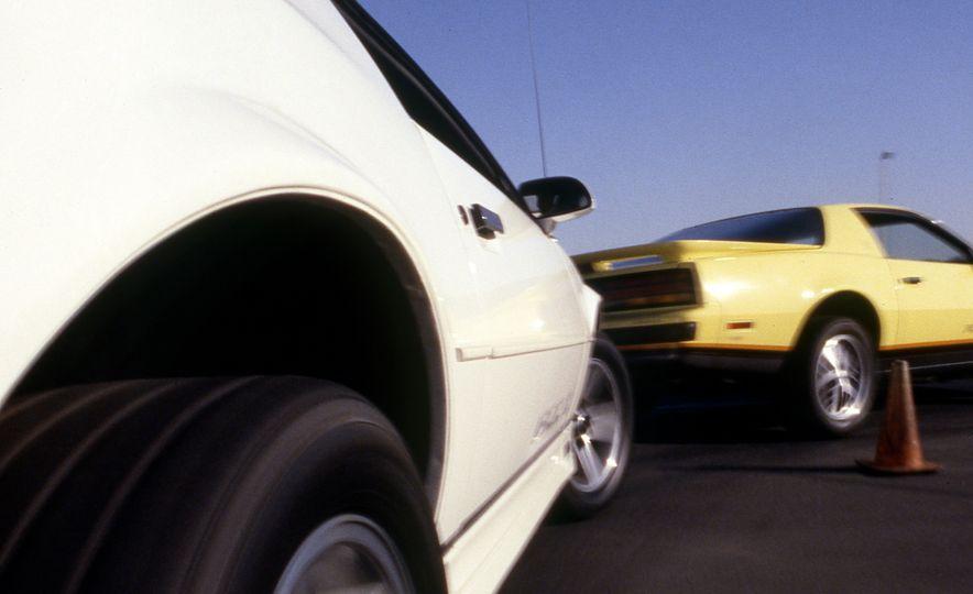 Pontiac Firebird Formula, Chevrolet Camaro IROC-Z, and Ford Mustang GT - Slide 4