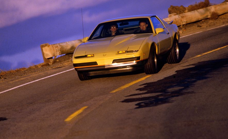 Pontiac Firebird Formula, Chevrolet Camaro IROC-Z, and Ford Mustang GT - Slide 5