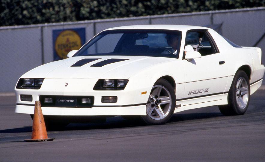 Pontiac Firebird Formula, Chevrolet Camaro IROC-Z, and Ford Mustang GT - Slide 8