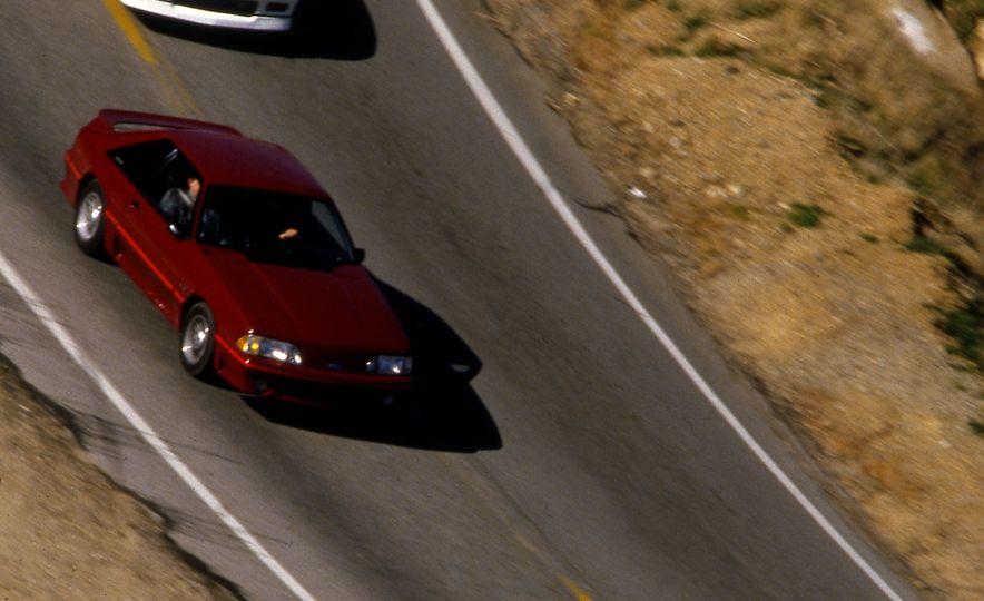 Pontiac Firebird Formula, Chevrolet Camaro IROC-Z, and Ford Mustang GT - Slide 12