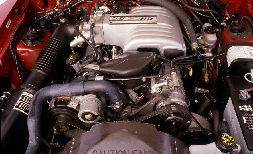 Pontiac Firebird Formula, Chevrolet Camaro IROC-Z, and Ford Mustang GT - Slide 14