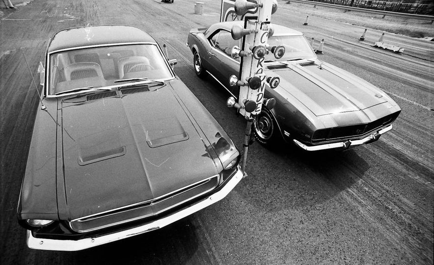 "1968 Chevrolet Camaro Z/28 and ""Tunnel Port"" Ford Mustang coupe - Slide 4"