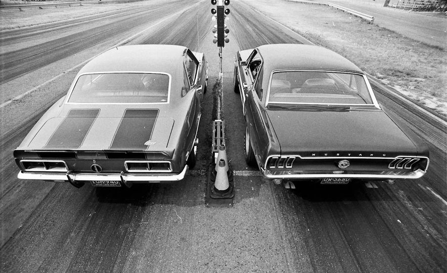 "1968 Chevrolet Camaro Z/28 and ""Tunnel Port"" Ford Mustang coupe - Slide 6"